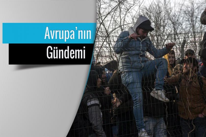 Pazarkule Sınır Kapısında bekleyen mülteciler