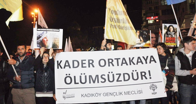 Kadıköy'de Kader Ortakaya için yürüyüş