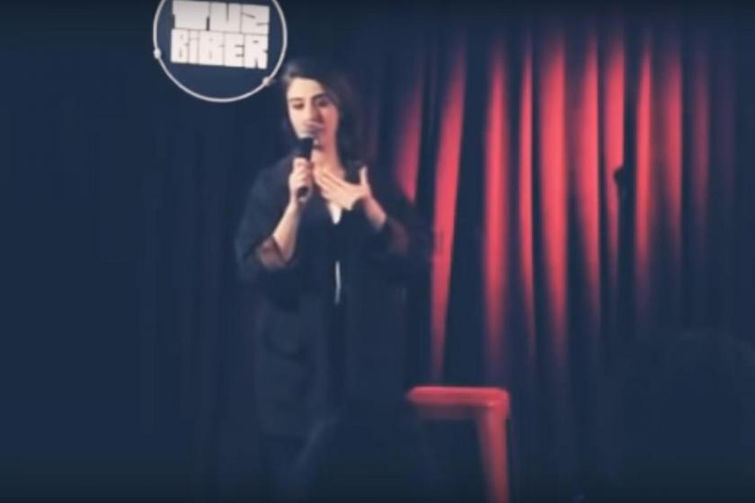 Pınar Fidan sahnede.
