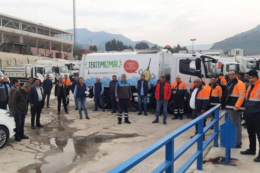 Genel-İş İzmir 2 No'lu Şube üyesi katı atık birimi işçileri sağlıkları için iş bıraktı