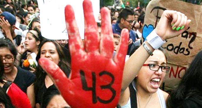 Meksika kaybolan  43 öğrenci için ayakta