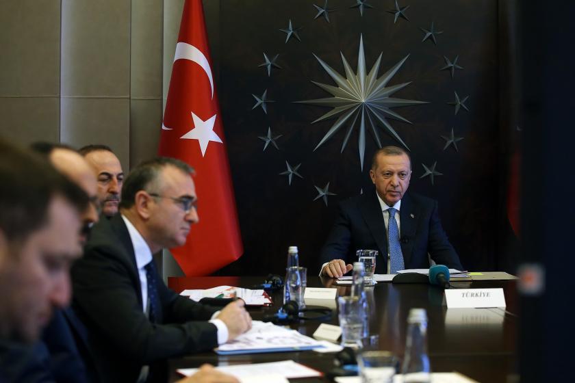 Erdoğan ve heyeti