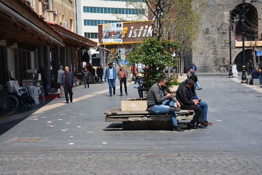 Diyarbakır merkezde bir sokak