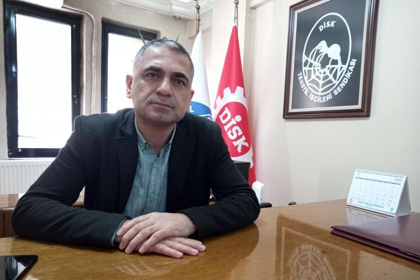 DİSK Tekstil Gaziantep Bölge Temsilcisi Mehmet Türkmen.