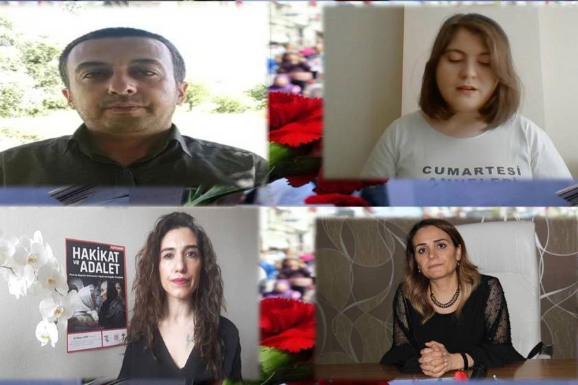 (Soldan sağa) Mehmet Selim Örhan'ın oğlu Adnan Örhan, Hayrettin Eren'in yeğeni Setenay Yarıcı, Fehmi Tosun'un kızı Besna Tosun, Örhan Ailesinin Avukatı Reyhan Yalçındağ