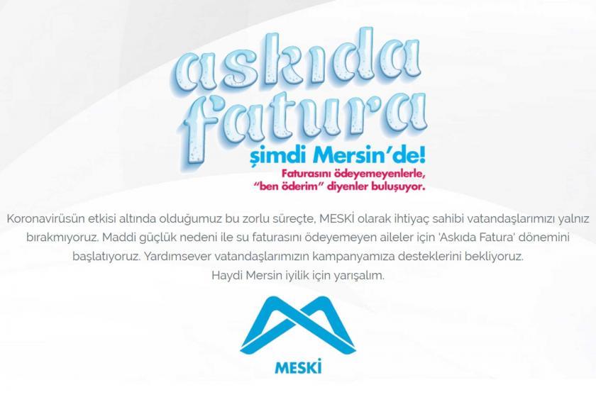 Mersin'deki Askıda Fatura kampanyasının çağrı metni