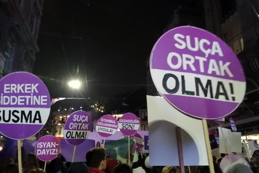 kadına şiddete karşı yürüyüş
