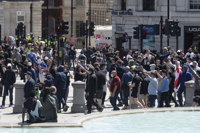 Londra'da ırkçı eylem.