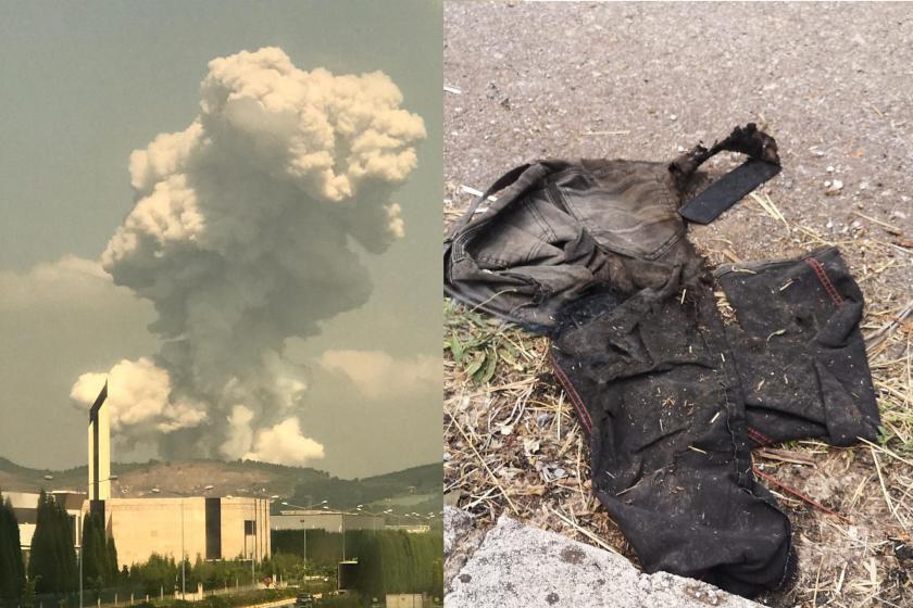 Sakarya'da havai fişek fabi,rkasında patlama ve işçi tulumu
