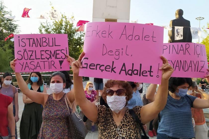 Ankara Batıkent'te kadınlar basın açıklaması düzenliyor