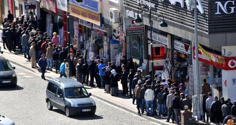 Erdoğan'ın  memleketinde  işsizlik kuyruğu
