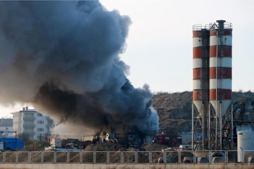 Burdur'da  işçilerin kaldığı konteynerde yangın