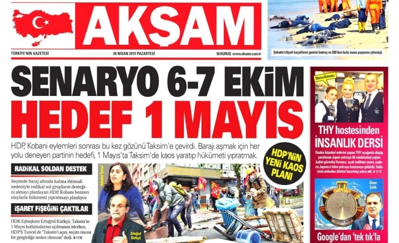 Yandaş medya 1 Mayıs provokasyonuna başladı