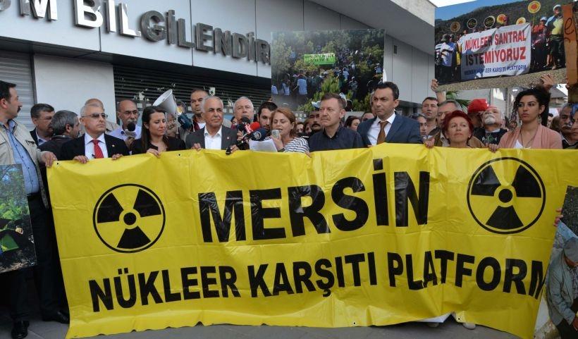 Çernobil faciasının yıl dönümünde Mersin'de nükleer karşıtı eylem