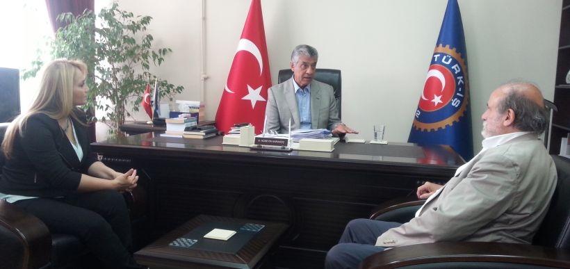 HDP adayları Türk-İş'i ziyaret etti