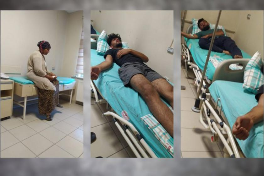 Saldırıda yaralanan işçiler