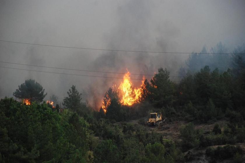 Karabük'te orman yangını sürüyor