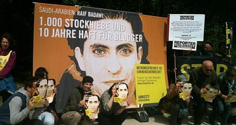 Suudi blog yazarına uluslararası destek