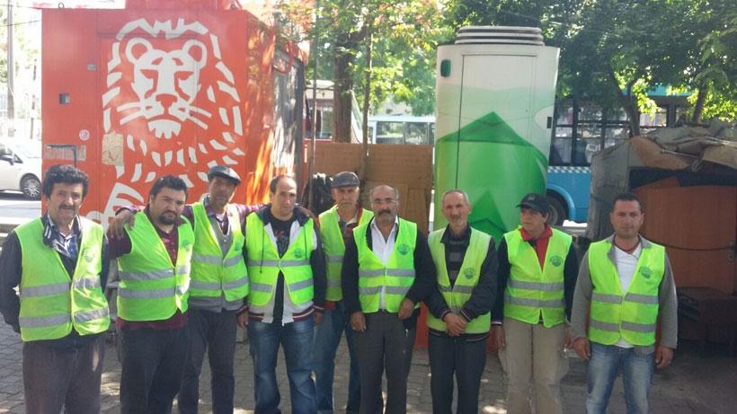 Sarıyer Belediyesi işçileri iş bıraktı