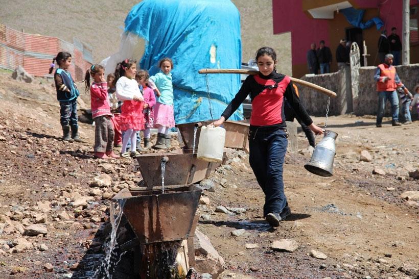 Kars'ta su göçü