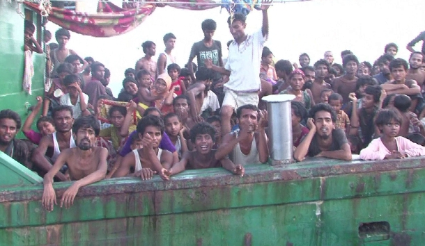 Myanmar'dan kaçan 582 göçmen Endonezya'ya giriş yaptı