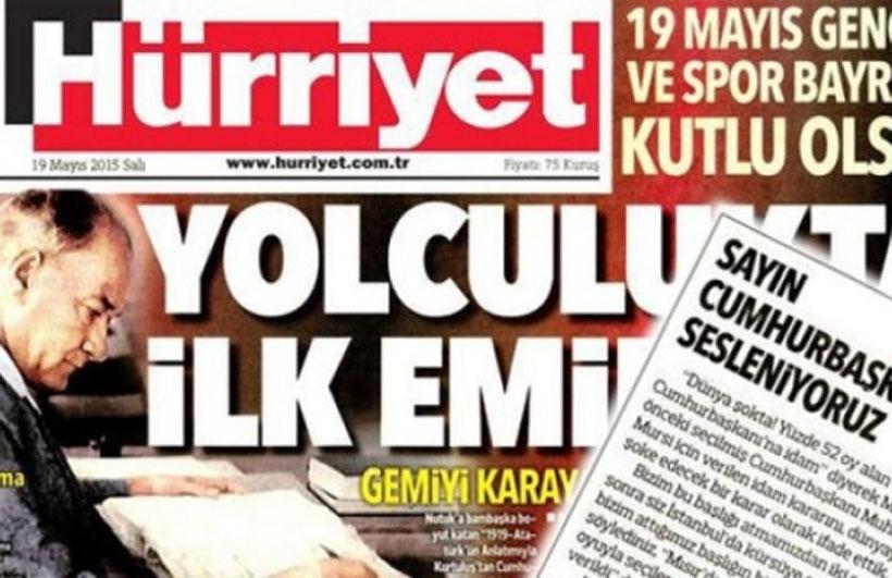 Hürriyet gazetesine suç duyurusu!