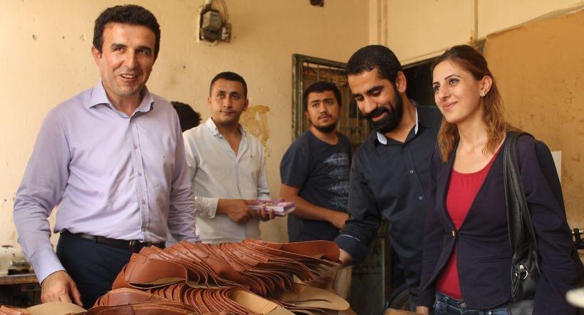 HDP Adana adayları saya işçileriyle buluştu