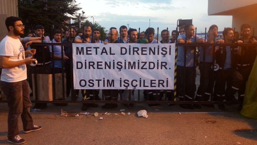 OSTİM işçilerinden metal işçilerine destek