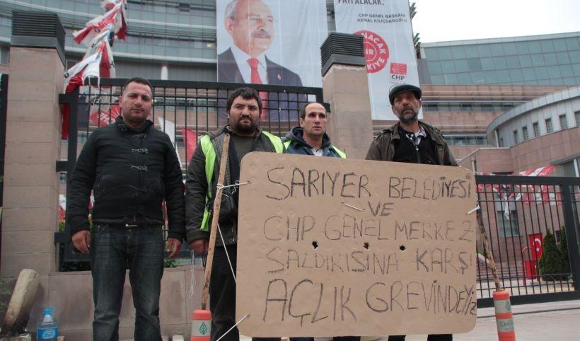 CHP önünde taşeron eylemi