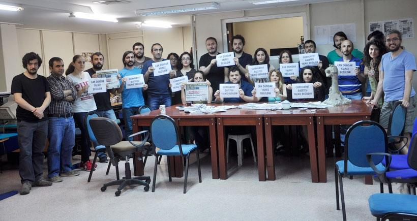 Evrensel ve Hayat TV'den Cumhuriyet Gazetesi'ne destek