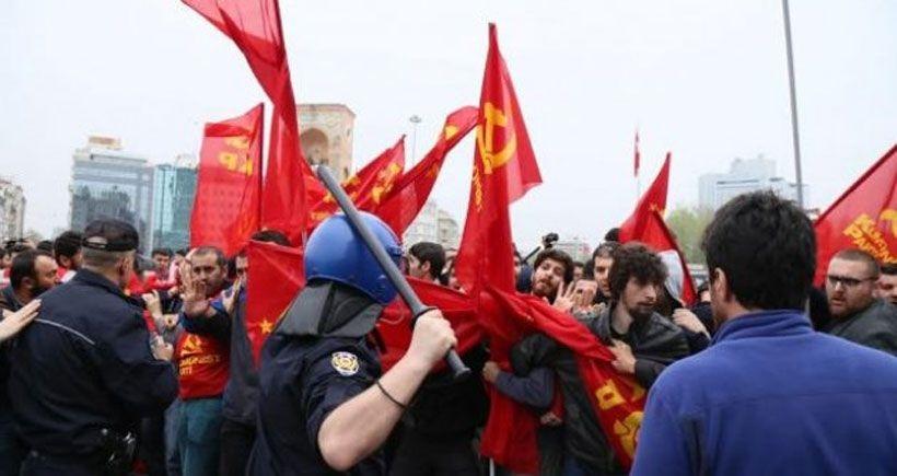 Taksim'e koşarak giren Komünist Partililere 11 yıla kadar hapis istemi