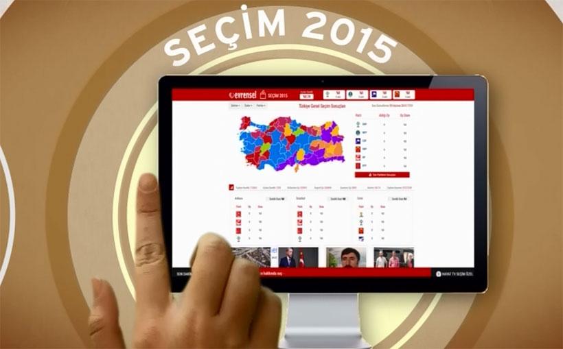 Seçim sonuçları evrensel.net'te