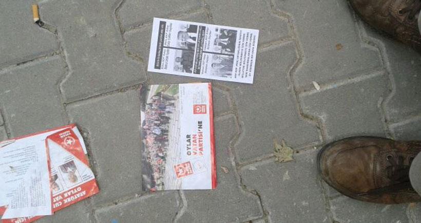 Ankara Batıkent'te HDP'yi karalayan imzasız bildiriler