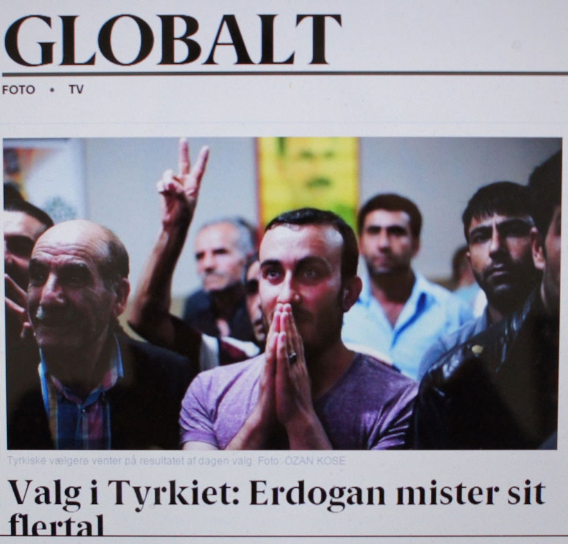 Danimarka medyası: Erdoğan'a tokat, Kürtlere sıcak karşılama