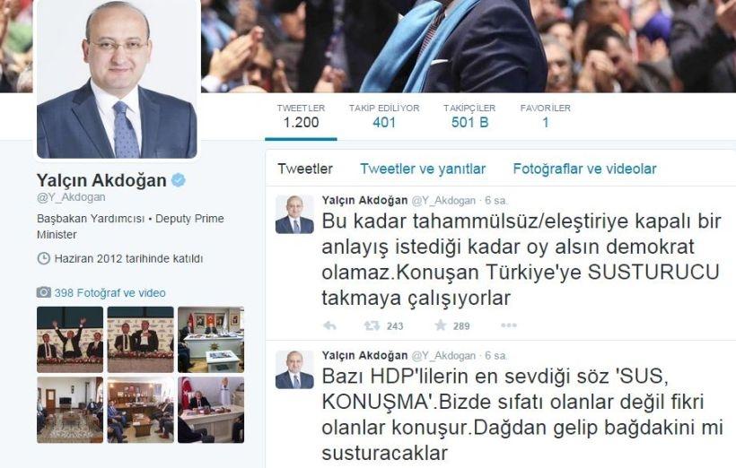 Akdoğan: Dağdan gelip bağdakini mi susturacaklar?