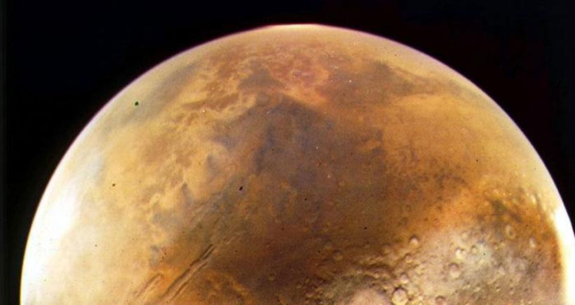 Mars'ta cam bulundu