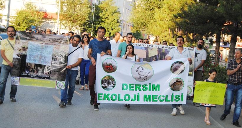 Dersim'de Arduç ailesi için yürüyüş yapıldı