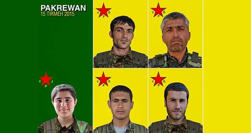 Yaşamını yitiren 5 YPG'linin kimlikleri açıklandı