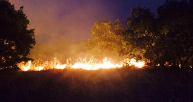 Geliyê Godernê yakınlarında yangın