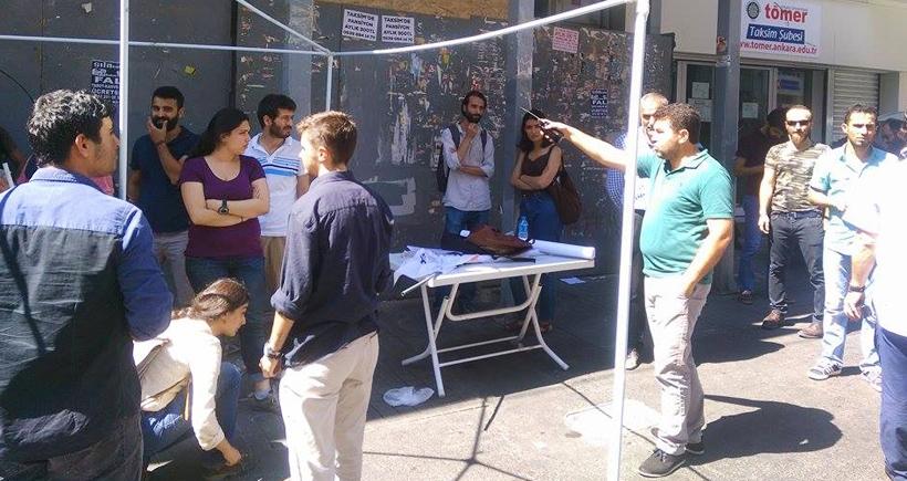 Suruç için açılacak taziye çadırına polis engeli