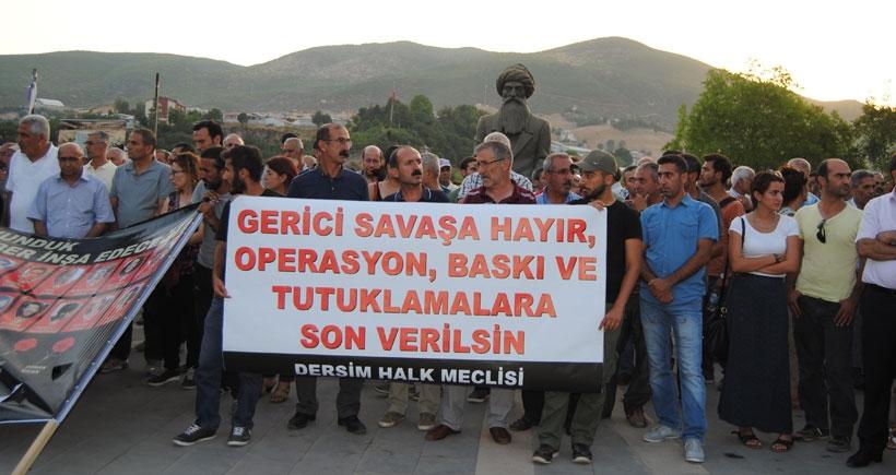 Dersim'de operasyon protestosu