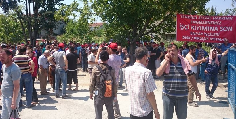 Enpay işçilerine polis saldırısı: 6 gözaltı