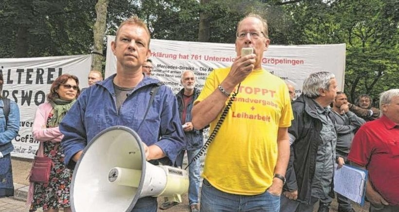 Daimler işçileri grev hakkını savunuyor