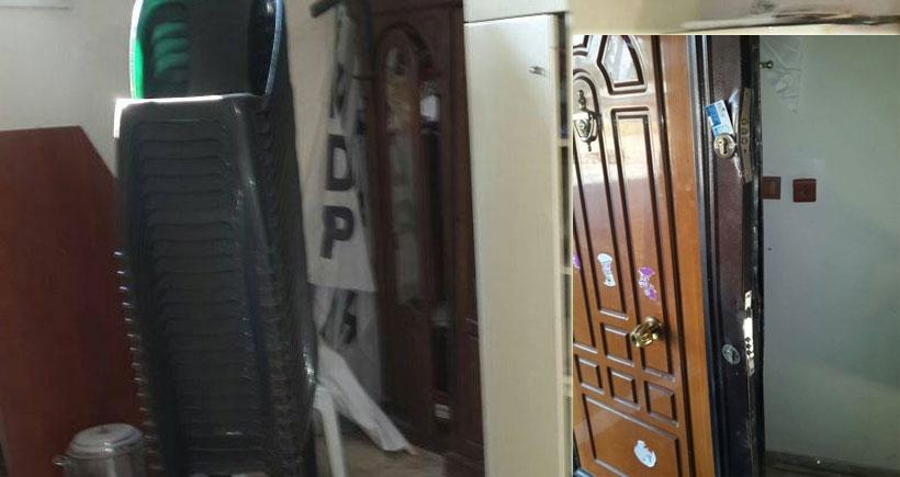 Polis, HDP binasının kapısını kırarak baskın düzenledi