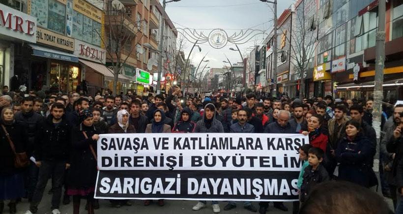 Sancaktepe'de katliam anması ve savaşa karşı eylem