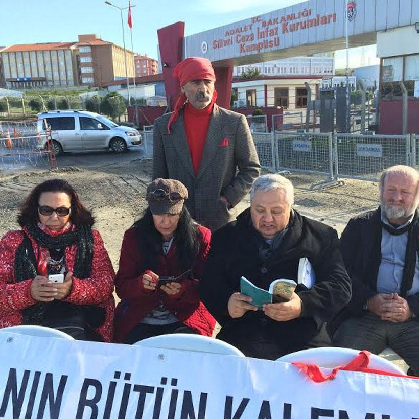 Türkiye Yazarlar Sendikası Silivri'de Umut Nöbeti'ndeydi