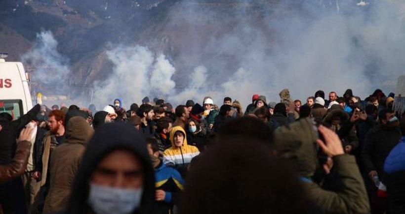 Artvin'de saldırıya büyük öfke: Siz Cengiz'in polisisiniz