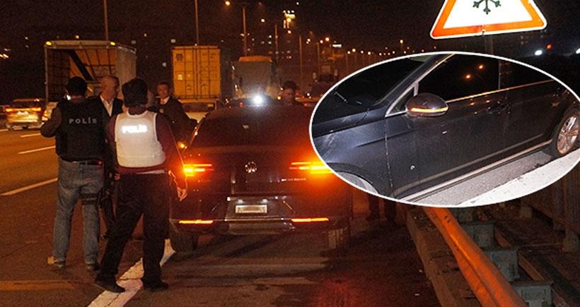 TEM'de rektörlük aracına silahlı saldırı