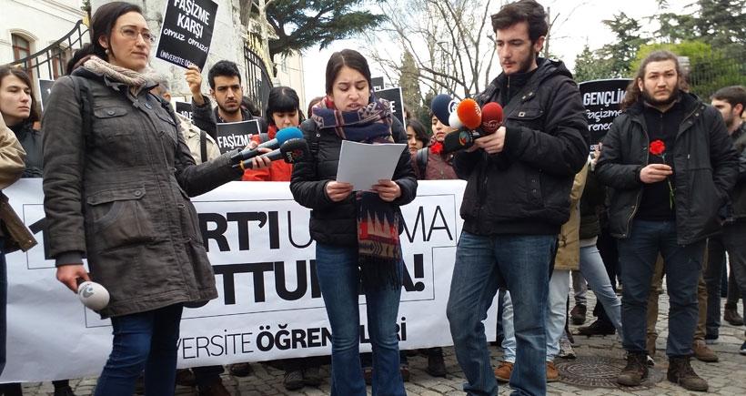 İstanbul Üniversitesi'nde Beyazıt ve Halepçe anması: 16 Mart'lar AKP'yle sürüyor