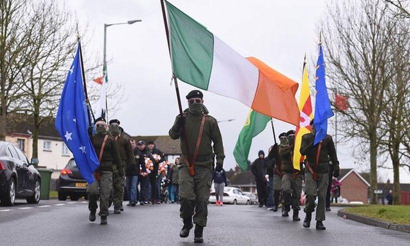 Kuzey İrlanda'da Paskalya Ayaklanması yürüyüşü